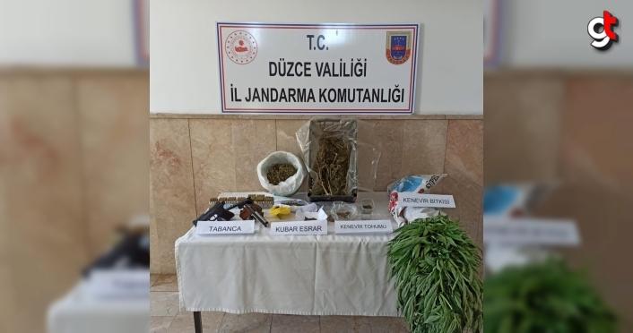 Düzce'de uyuşturucu operasyonunda 2 kişi gözaltına alındı