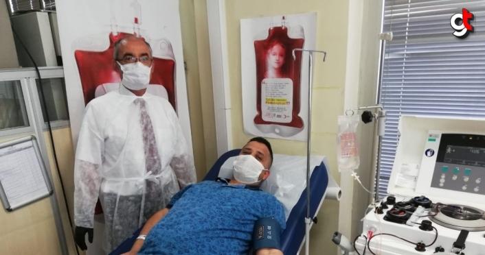 Karabük'te Kovid-19'u yenen 12 kişi immün plazma bağışçısı oldu