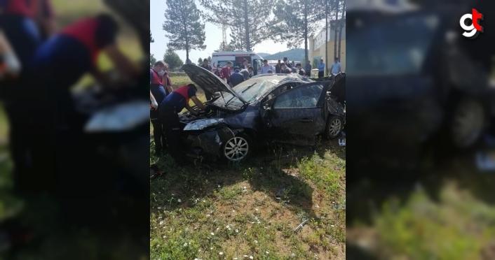 Kastamonu'da otomobil devrildi: 5 yaralı