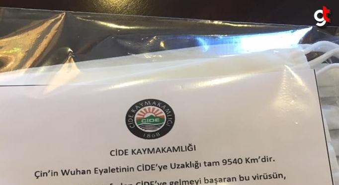 Kaymakamdan vatandaşlara maske takmaları için anlamlı not