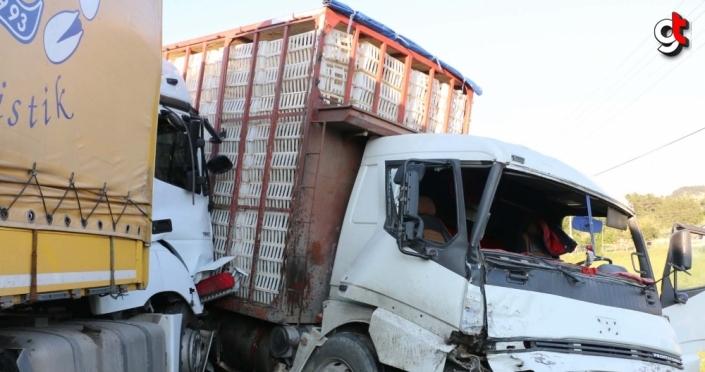 Mudurnu'da zincirleme trafik kazası: 1 yaralı