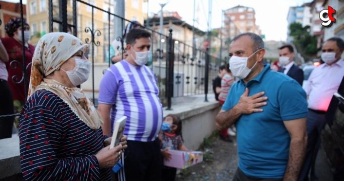 Ordu Valisi Tuncay Sonel'den kentteki ilk gününde şehit ailelerine ziyaret