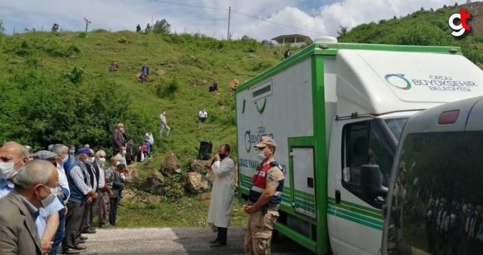 Ordu'da çöken otel inşaatında hayatını kaybeden işçi defnedildi