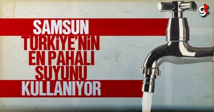 Samsun, Türkiye'nin en pahalı suyunu kullanıyor