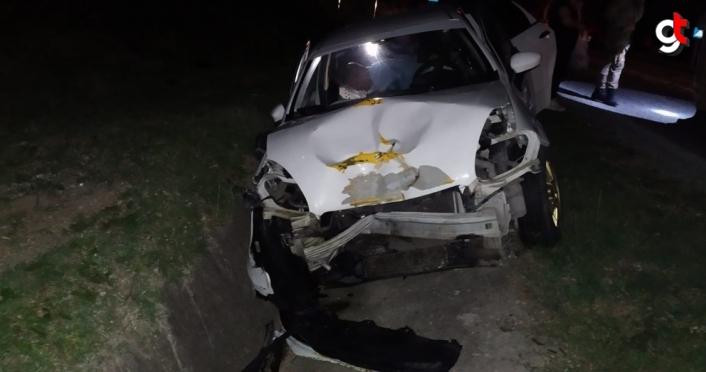 Samsun'da hafif ticari araç ile otomobil çarpıştı: 6 yaralı