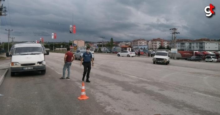 Samsun'da kamyonetin çarptığı kişi ağır yaralandı