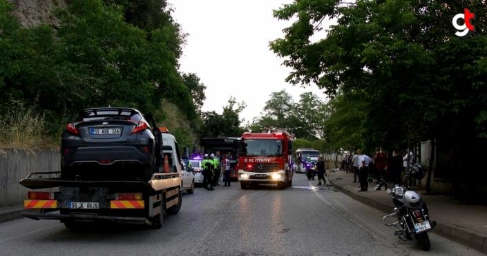 Samsun'da otobüs ile otomobil çarpışması sonucu bir kişi ağır yaralandı