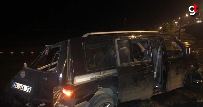 Trabzon'da minibüsün denize yuvarlandığı kazada 5 kişi yaralandı