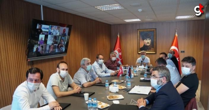 Trabzonspor'da yönetim kurulu online toplantı yaptı