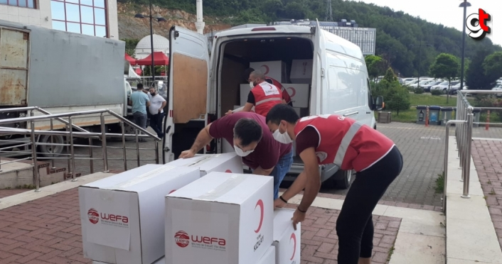 Türk Kızılaydan Zonguldak BEÜ'ye koruyucu tıbbı malzeme desteği