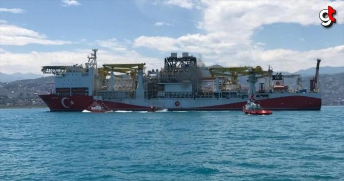 Türkiye'nin ilk yerli sondaj gemisi 'Fatih' Trabzon'a geldi