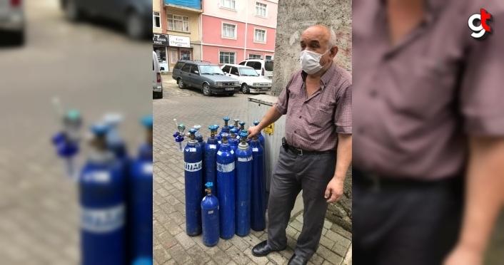 Yağlıdere Devlet Hastanesine 13 oksijen tüpü bağışladı