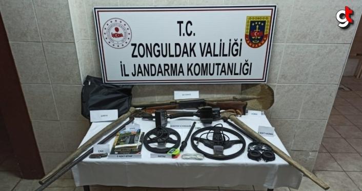 Zonguldak'ta kaçak kazı yapan 4 kişi suçüstü yakalandı