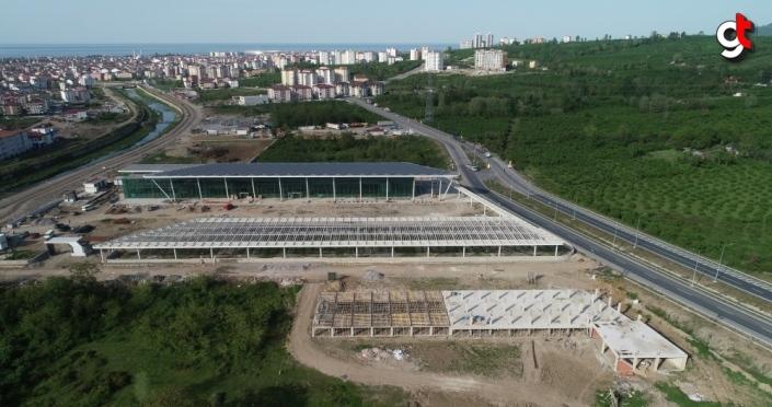 Altınordu Şehirlerarası Otobüs Terminali inşaatında sona doğru