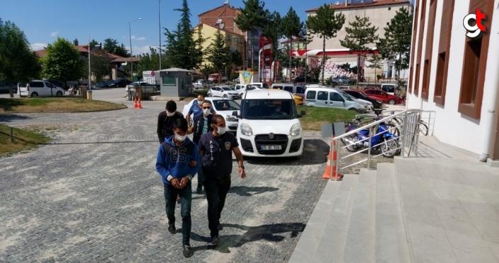Amasya'da trafik lambası çalan 2 şüpheli gözaltına alındı