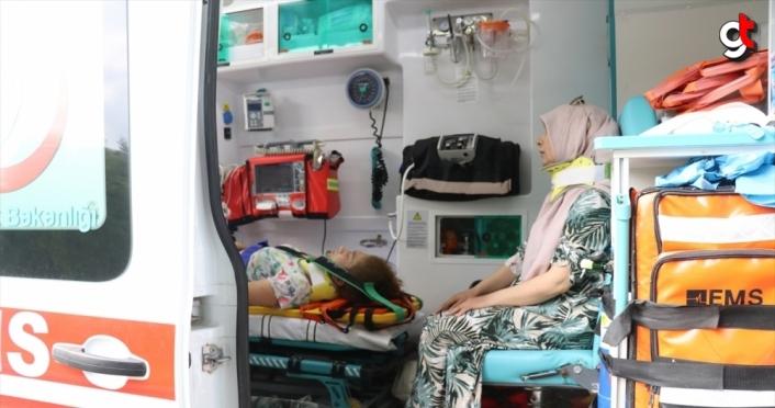 Anadolu Otoyolu'nda devrilen otomobildeki 5 kişi yaralandı