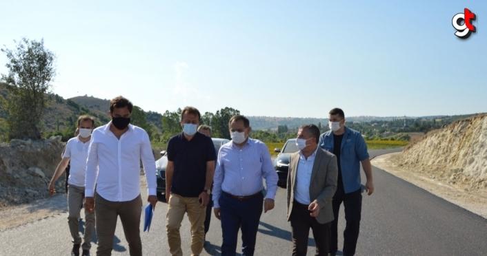 Büyükşehir Belediye Başkanı Demir Havza'da incelemelerde bulundu