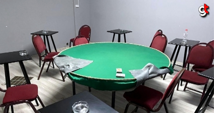 Düğün salonunda kumar oynayan 14 kişiye para cezası