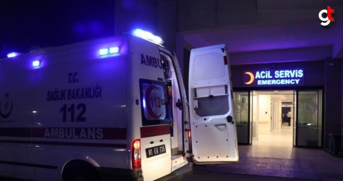 Düzce'de bir kişi karbonmonoksit zehirlenmesi şüphesiyle hastaneye kaldırıldı