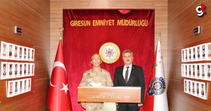Giresun Jandarma Bölge Komutan Vekili Demir'den İl Emniyet Müdürlüğüne ziyaret