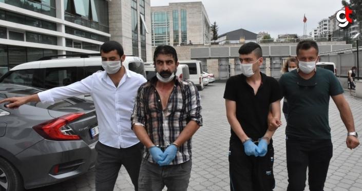 Samsun'da polis memurlarını darbettiği öne sürülen anne, baba ve oğlu yakalandı