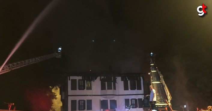 GÜNELLEME - Safranbolu'da tarihi konakta yangın