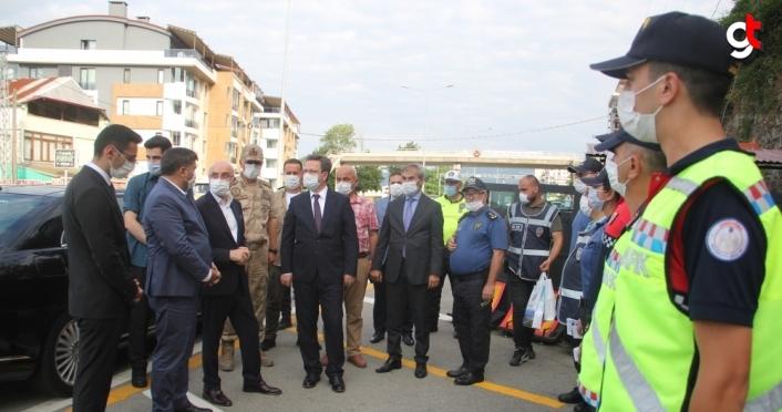 İçişleri Bakan Yardımcısı Tayyip Sabri Erdil, Giresun'da trafik denetimine katıldı