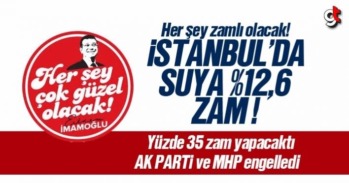 İstanbul'da suya yüzde 12,6 zam yapıldı