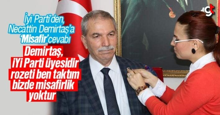 İyi Parti'den, Necattin Demirtaş'a 'Misafir' cevabı