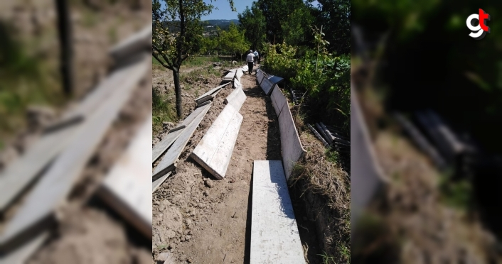 Karabük'te sulama tesisi onarım çalışmaları