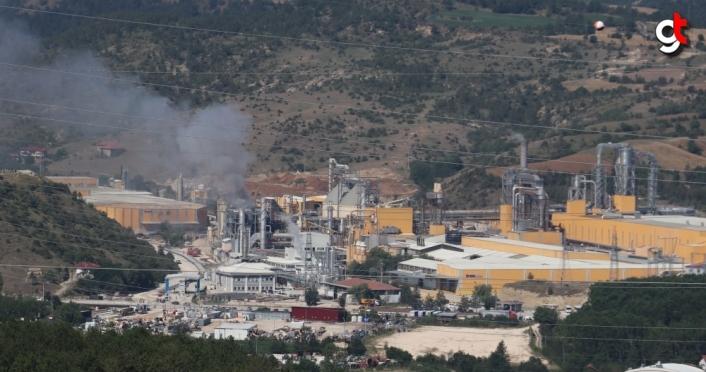Kastamonu'da ağaç işleri yapılan fabrikadaki yangın hasara yol açtı