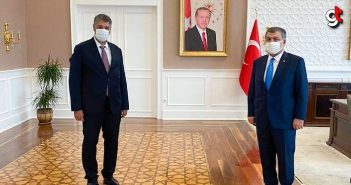 KBÜ Rektörü Polat, Sağlık Bakanı Koca'yı ziyaret etti