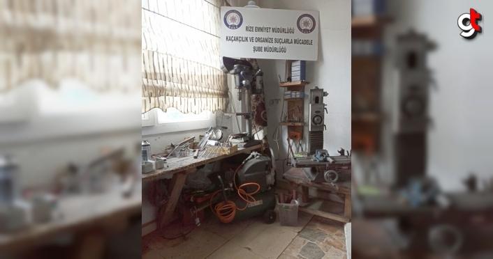 Rize'de kaçak silah atölyesine yönelik operasyonda iki kişi yakalandı