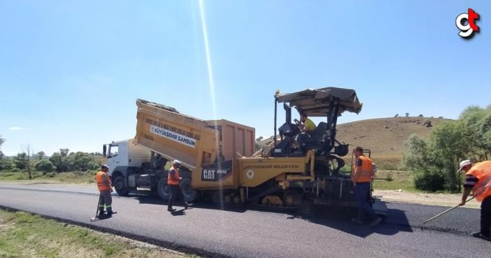 Samsun'da iki haftada 17 ilçede 122 kilometre yol tamamlandı