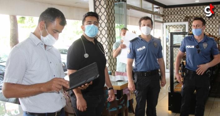 Taşova'daki iş yerlerinde sigara kullanım denetimi yapıldı