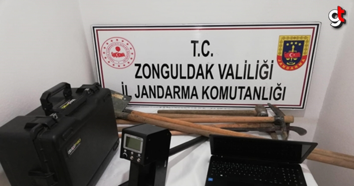 Zonguldak'ta izinsiz kazı yapan 5 kişi suçüstü yakalandı