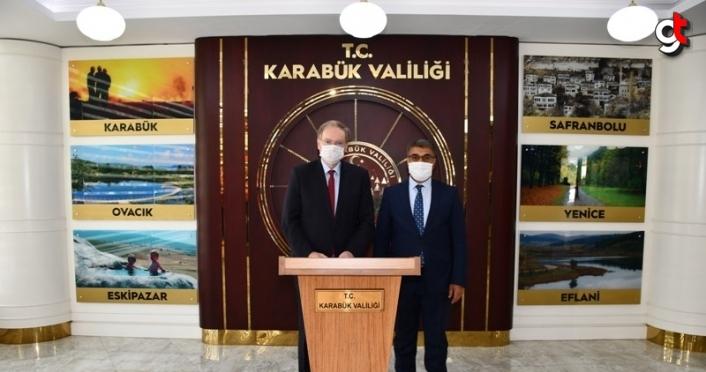 AB Türkiye Delegasyonu Başkanı Berger, Karabük Valisi Gürel'i ziyaret etti
