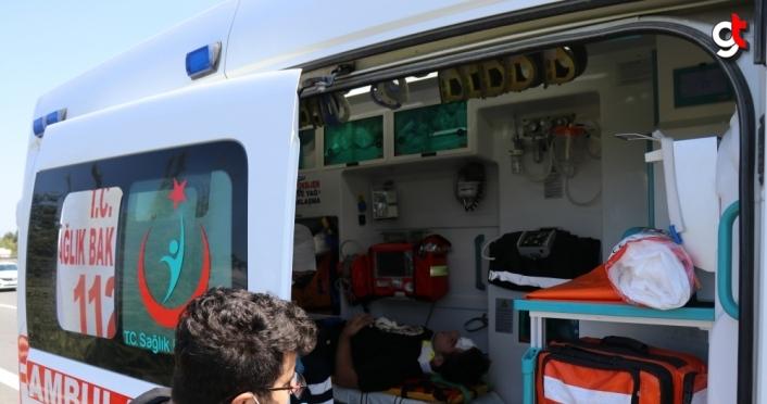 Anadolu Otoyolu'nda otomobil ile cip çarpıştı: 1 yaralı