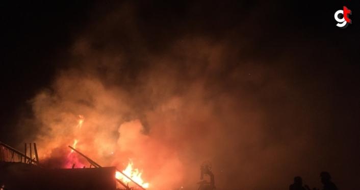 Çorum'da Keresteciler Sitesi'nde yangın