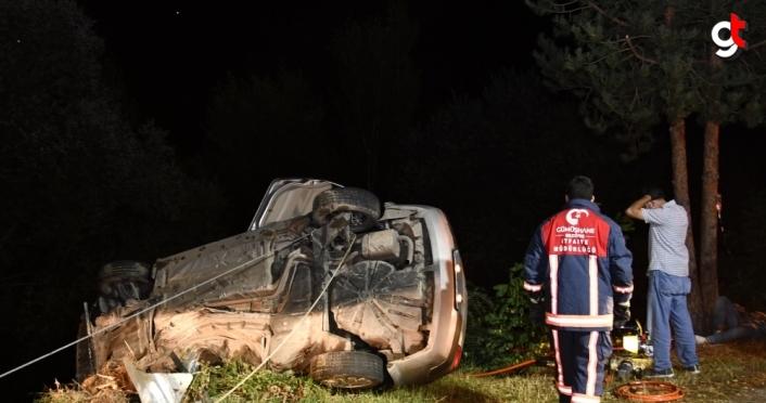 Gümüşhane'de otomobil devrildi: 3 yaralı