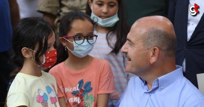 İçişleri Bakanı Soylu, Dereli ve Espiye'de incelemelerde bulundu