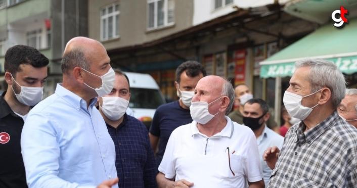 İçişleri Bakanı Soylu, Doğankent'te incelemelerde bulundu