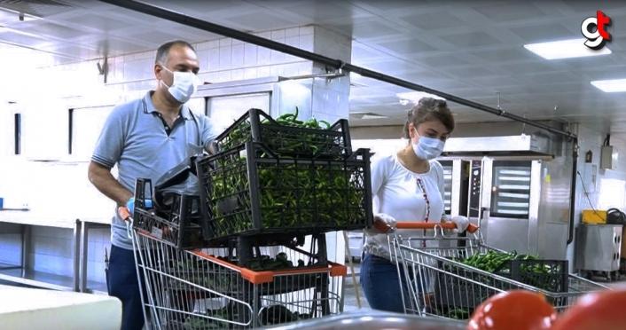 Keçiören Belediyesi kendi ürettiği organik ürünleri yemekhanesinde kullanıyor