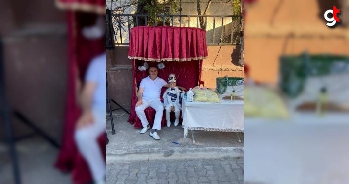 Kesmekaya'dan 8 yaşındaki Enver Yiğit'e sünnet düğünü jesti