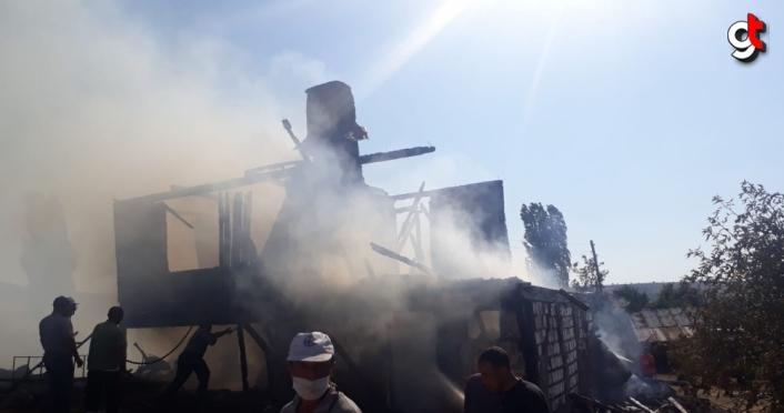 Kıbrıscık'ta ev yangını
