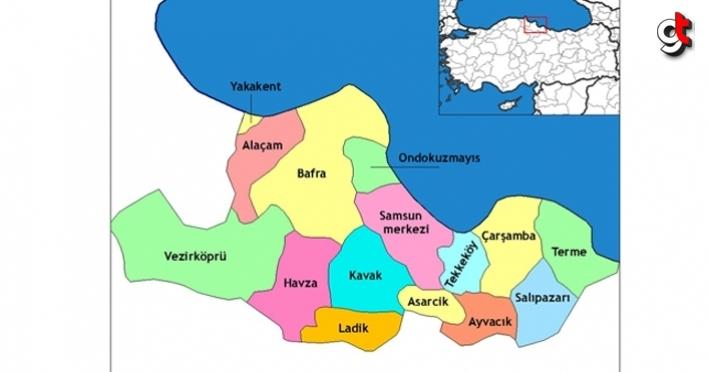 Samsun'da 4. bölge teşvik bölgesine alınan ilçeler