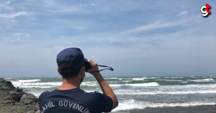 Samsun'da denizde kaybolan genci arama çalışmaları sürüyor