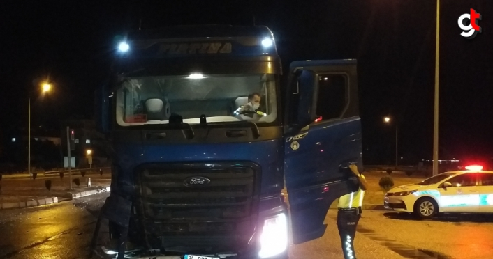 Samsun'da tır ile otomobil çarpıştı: 4 yaralı