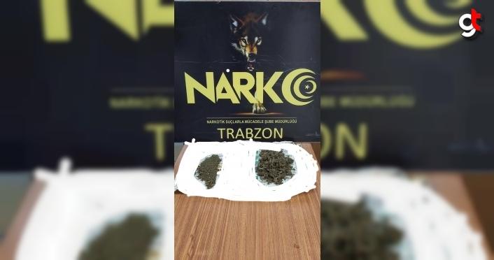 Trabzon'da 3,7 kilogram esrar ele geçirildi