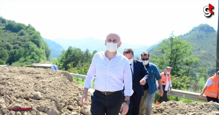 Ulaştırma ve Altyapı Bakanı Karaismailoğlu Tirebolu'da incelemelerde bulundu: